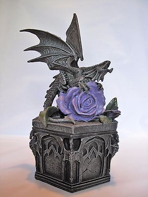 Bnwt Anne Stokes Dragon Beauty Resin Box - Rrp $99
