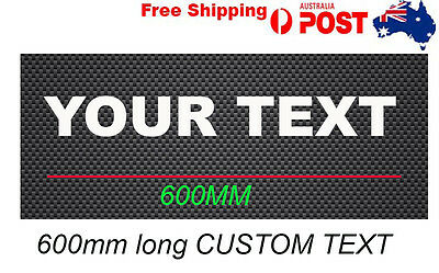 Custom your Text lettering Vinyl sign Stickers 600mm decal sign