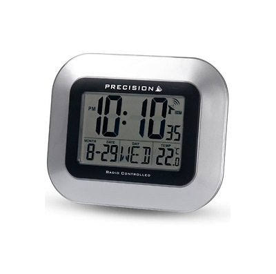Precision Radio Control Temperature Date & Day Desk & Wall Clock Prec0102