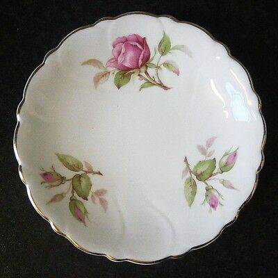 Vintage Adderley Floral English Bone China Pink Roses Pin Dish
