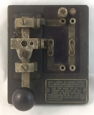 Vintage Antique Morse Code Key - Radio Communication Equipment Australian?