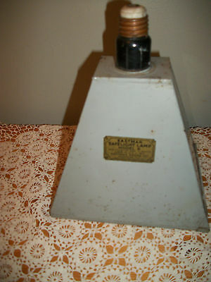 Vintage Kodak Eastman Safelight Lamp Model B USA Cowbell Industrial Machine