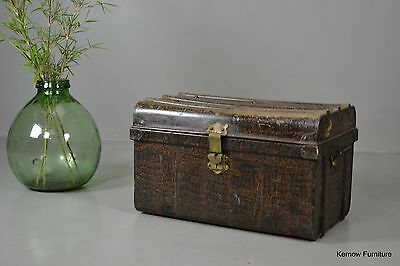 Vintage Alligator Effect Tin Trunk
