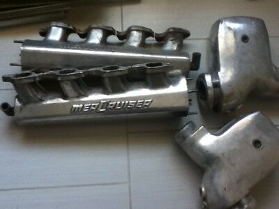 Mercruiser Water Cooled Headers Aluminum From A 454 Bb Chev