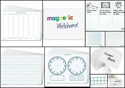 Desk Top Whiteboards Plain Clocks Place Value Dotted Magnetic Teacher Resource