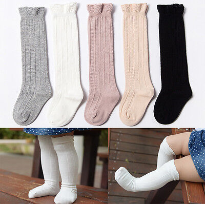 Baby Loose opening Knee High Cotton Socks Christening Wedding Party