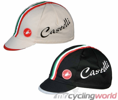 Castelli Retro Cotton Italian Stripes Cycling Cap - Hat with Peak