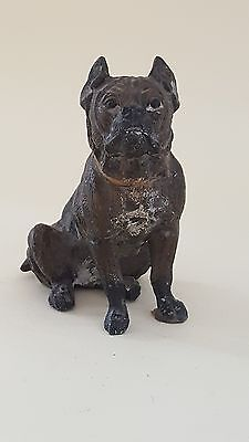 Spelter vintage Victorian antique pug dog figurine ornament