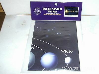 "Solar System Wall Map Poster Size 40"" x 28"" Perfect for Home, Office, or School"