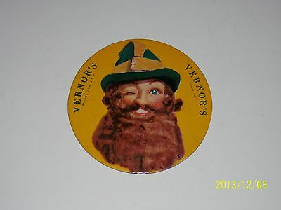 """VERNOR'S Ginger Ale 1948 GNOME COASTER Sign Nr Mint Cardboard 4"""" Die Cut VERNORS"""