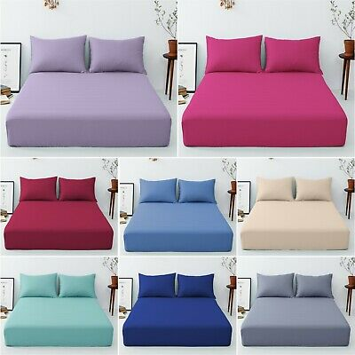 """Extra Deep 16""""/40 Cm Fitted Percale Single,double, King, Super King Sheets"""