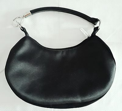 GIORGIO ARMANI Parfums Evening Bag Black Satin or Make up Bag