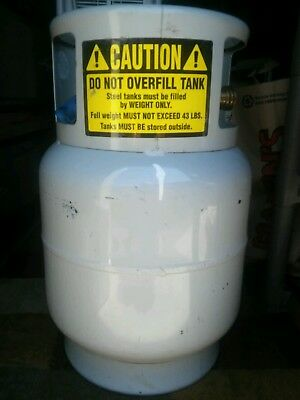 Manchester 20 LB Floor Buffer LP Tank with a {Full tank of PROPANE}. In EC.