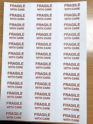 720 Fragile, Handle With Care Labels / Stickers: Free Postage And Packaging