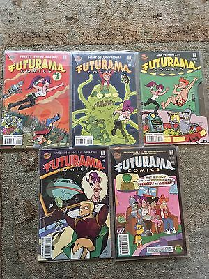 futurama comics #1 to #5. All in original sleeves, only 1 owner