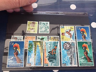Tanganyika nice assortment of nhm stamps on cards good lot