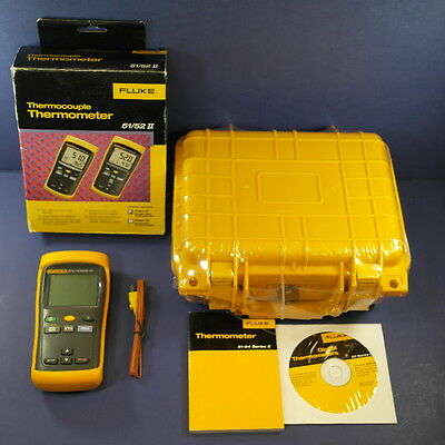 Brand New Fluke 51 II Thermocouple Thermometer! Waterproof Hard Case!