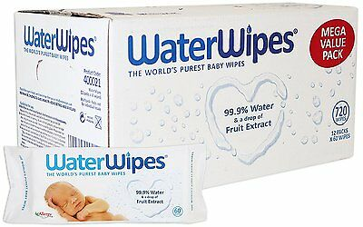 WaterWipes Baby Wipes Chemical Free Sensitive Skin Pure 12 Packs-720 Wipes