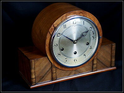 Art Deco Crossed Arrows Mantel Clock. Westminster Chime.