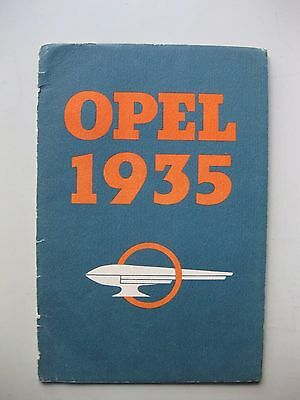Opel 1.2 Liter  1.3 6 Zylinder Prospekt brochure German language Deutsch 1935