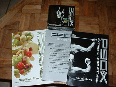 P90X 12 DVD Set w/Fitness Guide & Nutrition Plan