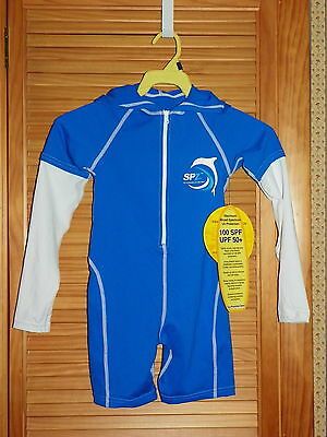 THERMOSKINZ Boys Girls Sun Protection Zone Hooded Long Sleeve WETSUIT SZ 6 NWT