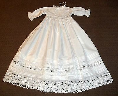 Stunning Traditional Antique Heirloom White Christening Gown Baptism Robe