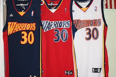 329b6ad91bf STEPH CURRY JERSEY Throwback Rookie Red White Golden State Warriors ...