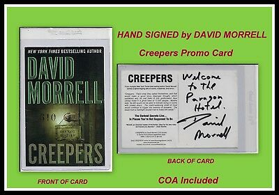 AUTOGRAPHED HAND SIGNED Promo Card by David Morrell Creepers with COA Free SHIP!