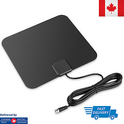 Super Thin Indoor Digital HD TV HDTV Antenna FM/VHF/UHF FREE TV Signals 25 Miles