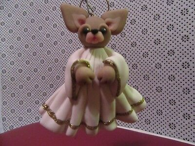 Chihuahua Angel Ornament Artist Made Excellent!
