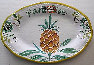 "Melamine Serving Platter  13"" X 18""  TROPICAL PARADISE"