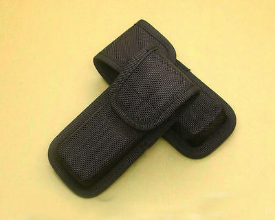 Black Nylon Sheath For Folding Pocket Rescue Knife Pouch Case Closure Gift NEW