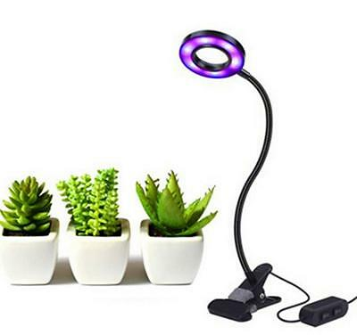 10W USB LED Grow Light Hydroponic Garden Plant Desk 360° Flexible Clip Lamp AU