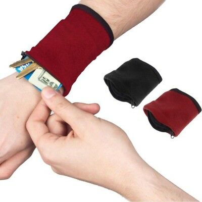 Outdoor Sport Jogging Zipper Wallet Cell Phone Arm Band Wrist Purse Bag 4 Colors