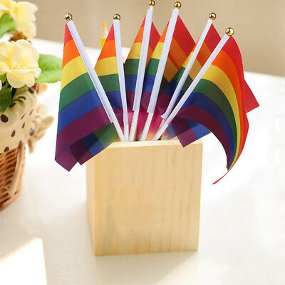 3Pcs Fashion Rainbow Flag Gay Pride Lesbian Peace LGBT Banner Party Symbol Gifts