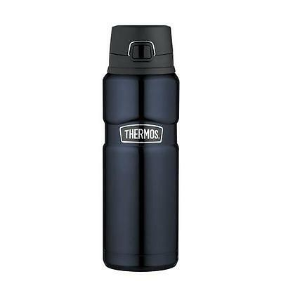 Thermos Blue Stainless King Bottle 24 Ounce - Locking, Leak-Proof Lid