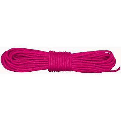 Neon Pink Nylon Braided Paracord 100' Hank - USA Made/Heat Seal Polybag