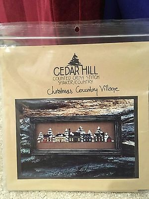 Cedar Hill - Christmas Country Village - cross stitch pattern