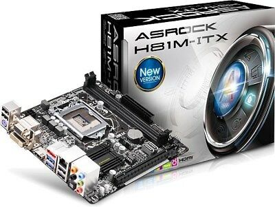 ASRock H81M-ITX - ITX Motherboard for Intel Socket 1150 CPUs