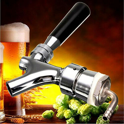 Beer Tap Faucet Draft Shank W/ Elbow 1-2/5''X3/16'' Brass Tube Kit For Kegerator