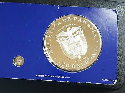1976 Panama 20 Balboa PROOF Coin,,