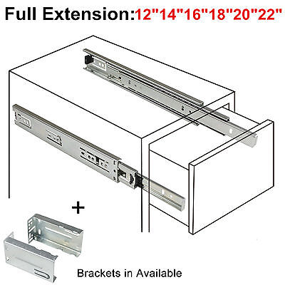 12-22in Full Extension Drawer Slides/Glides Ball Bearing Heavy Duty Side Mount