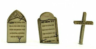 Wood Gravestones x 28 from the UK. Kit for OO & HO Model Train Layout