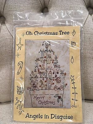 Angels in Disguise - Oh Christmas Tree embroidery pattern