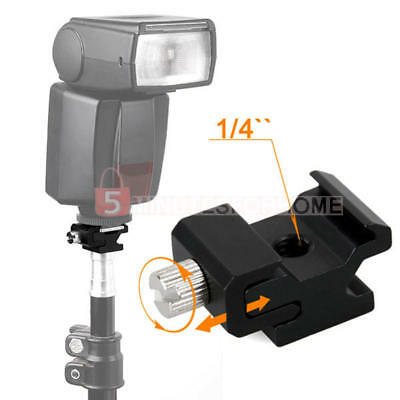 Camera Flash Hot Shoe Mount Adapter with 1/4inch Female Thread/Screw Hole