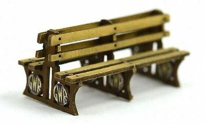 Wood GWR Platform Benches x 6 Kit for OO & HO Model Train Layout