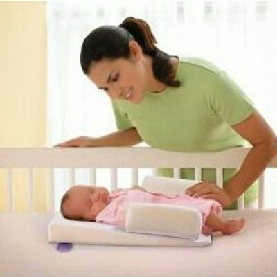 1x Solid Newborn Baby Head Back Anti Spit Milk Roll Sleep Mat Positioners Pillow