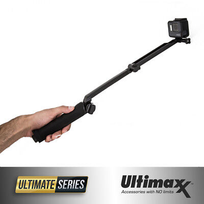 GoPro 3-Way Selfie Stick Hand Grip Flexible Tripod Extension Arm Monopod - New!