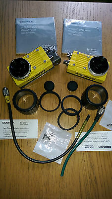 Cognex in-sight IS5110-01 Rev C vision system cameras with lenses x2